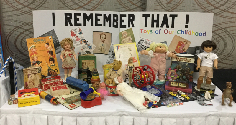 A retrospective of beloved toys from the past was unveiled at the Wichita Doll Show's first outing.