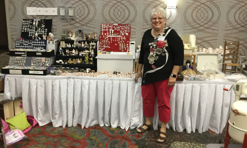 Pat Boldt, recognized for her work in miniatures, was among the artists at the first annual Wichita Doll Show.