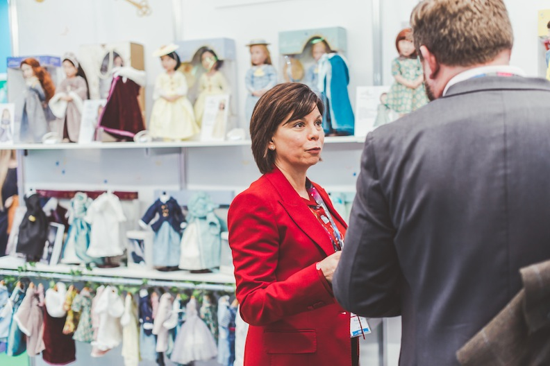Frances Cain at Toy Fair