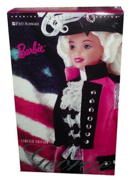 Barbie as George Washington packaging