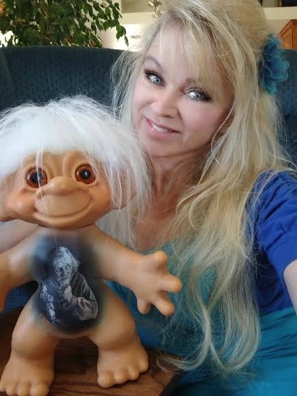 Judi Paul and her Thomas Dam Troll Portrait Doll