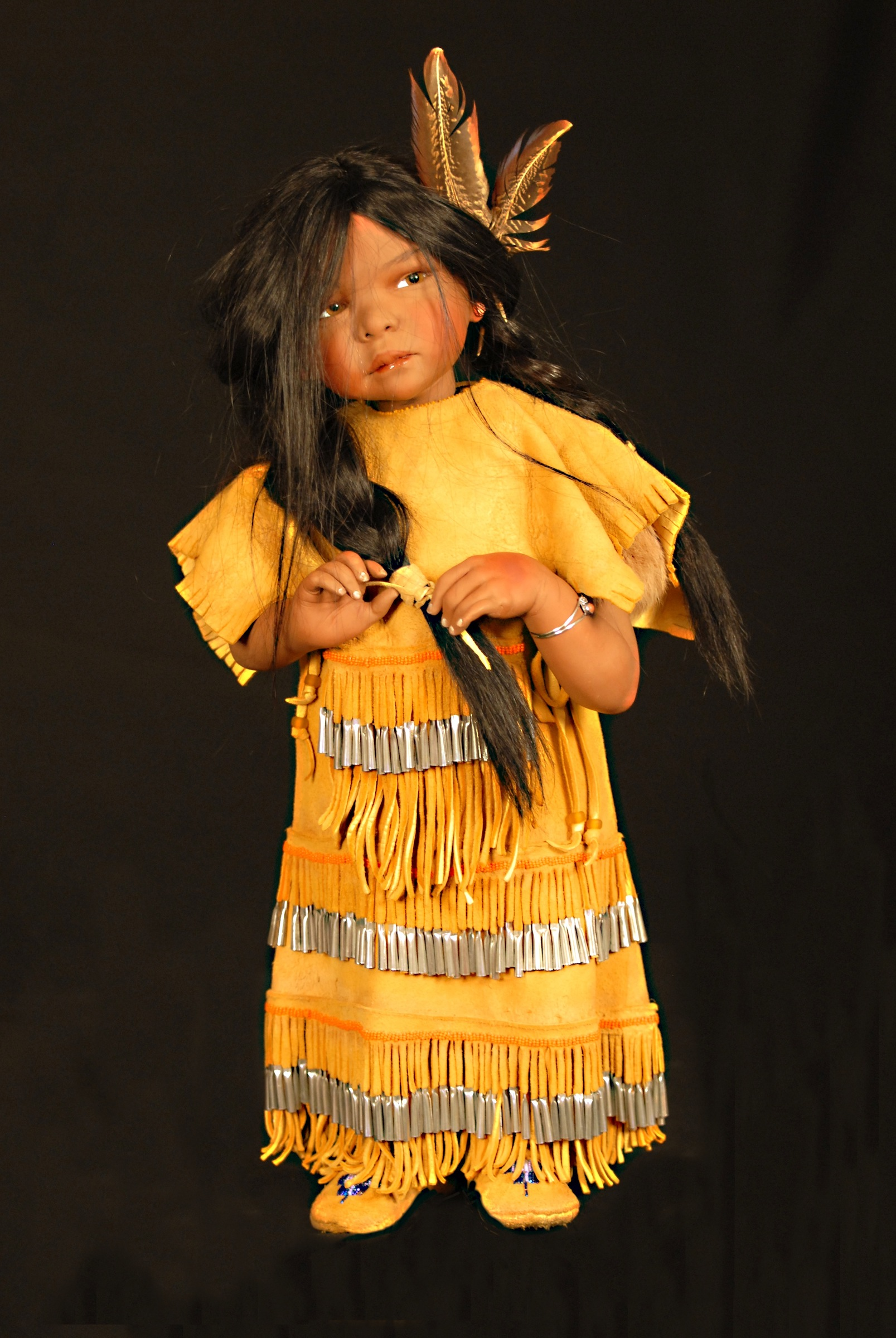Little Apache doll by Lynn Cartwright
