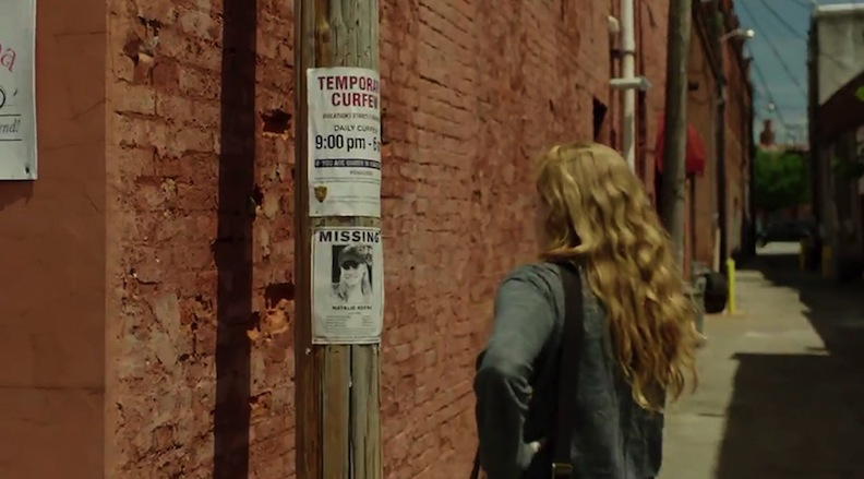 "Missing posters in town of ""Sharp Objects"""
