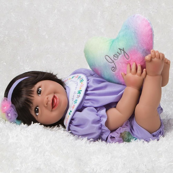 """Joy"" baby doll Rainbow Blessings"