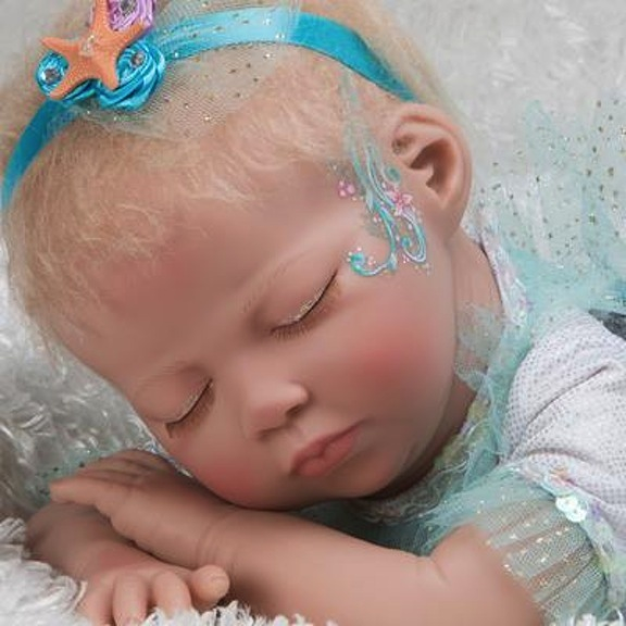 Close-up of Mystic Mermaid baby doll