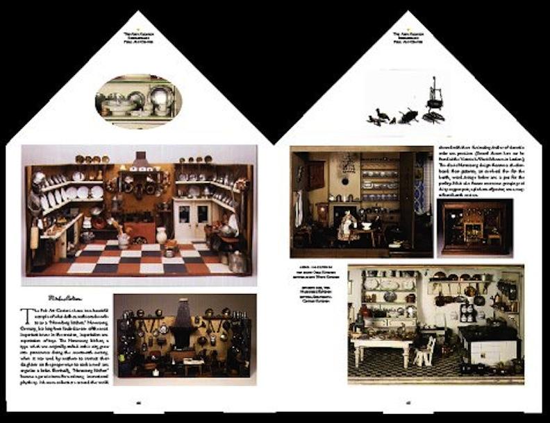 Interior of Finnegan Doll House Book