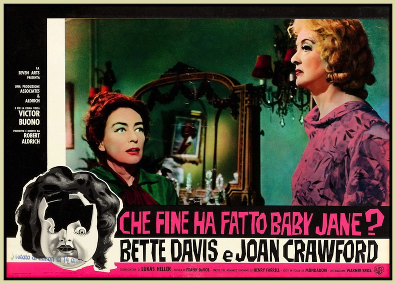 "Italian lobby card of ""What Ever Happened to Baby Jane?"""