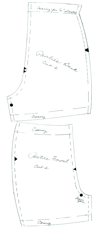 Refined pattern for panties.