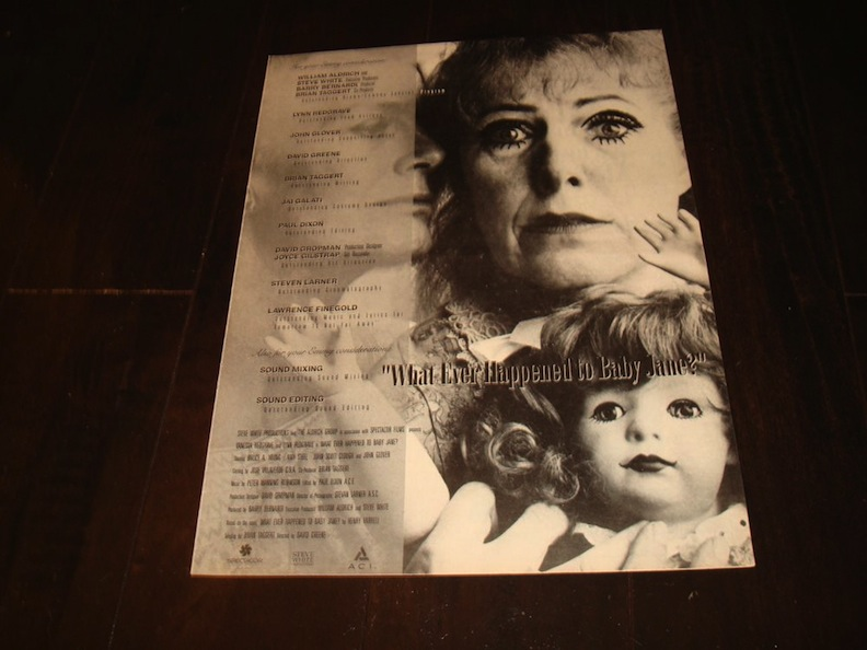 "Emmy Nomination Ad for ""What Ever Happened to Baby Jane?"""