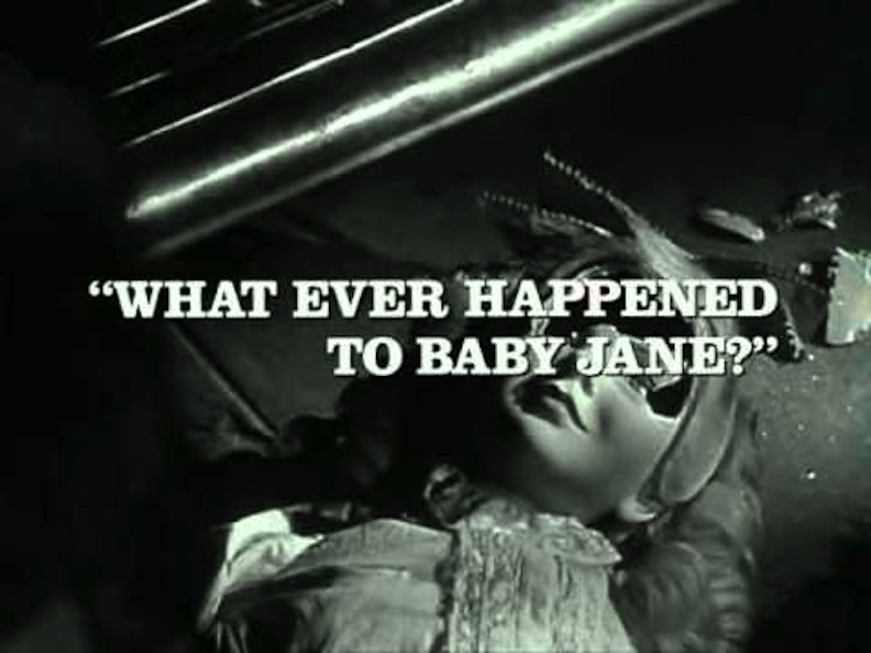 "Title sequence of ""What Ever Happened to Baby Jane?"""