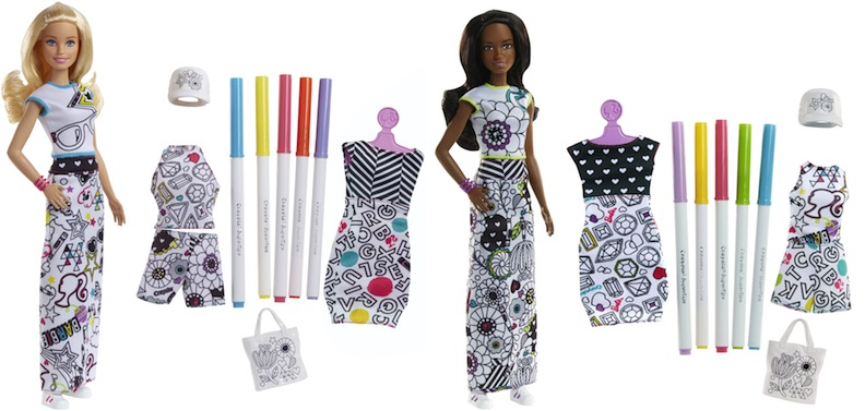 Barbie and Crayola Fashion set