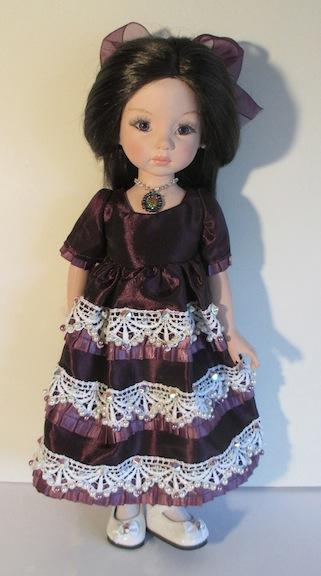 """Little Darling in Violet"" by Brenda Mize"