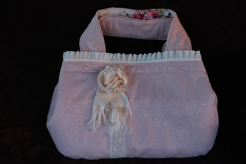 Shabby Chic Rose bassinet bag by Susan Gibbs