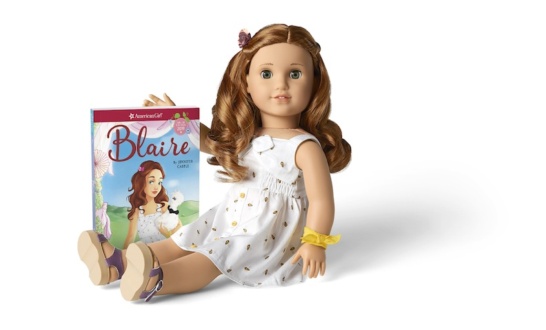 Blaire doll and her book set