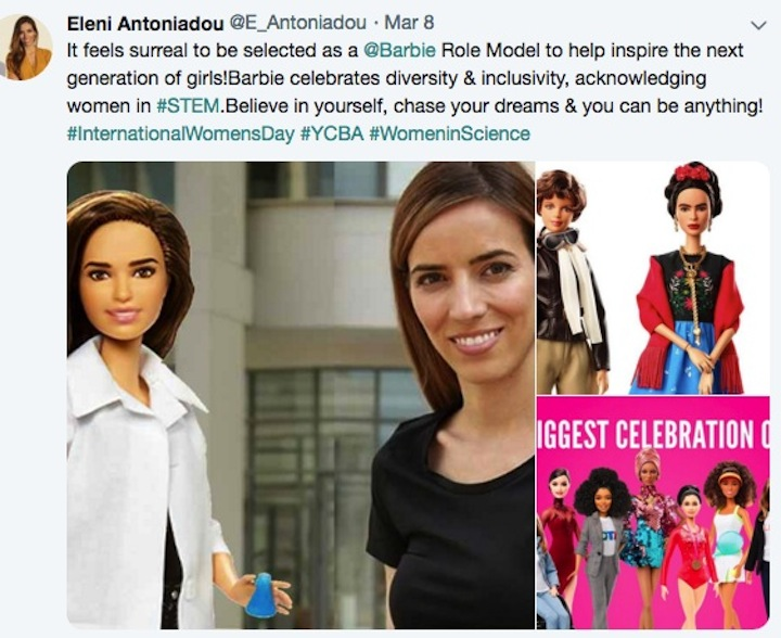 Eleni Tweet about Shero doll for 2019
