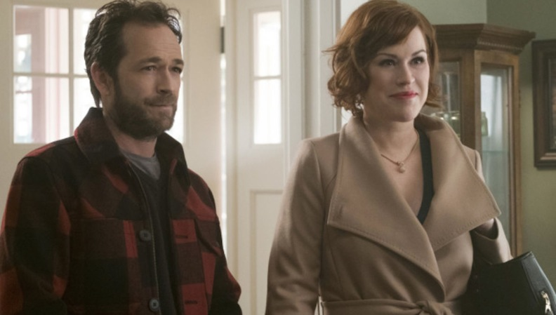 Luke Perry and Molly Ringwald in RIverdale