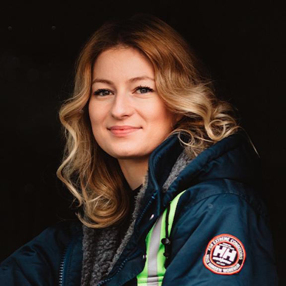 Truck driver Iwona Blecharczyk