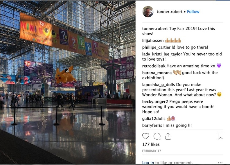 Toy Fair 2019 Robert Tonner Instagram