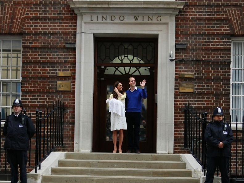 Kate and Wills at Lindo Wing
