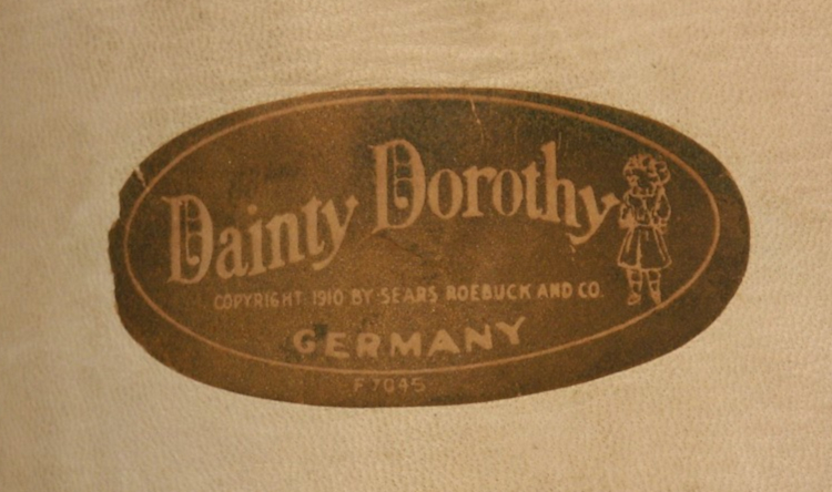 Original Dainty Dorothy label