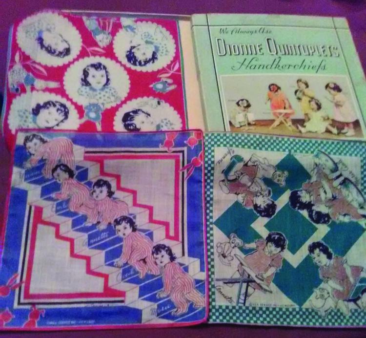 Dionne quintuplet handkerchiefs