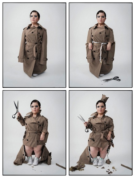 Burke vocally lobbies for fashion that is reflective and inclusive of everyone. This photo montage by Tim Walker for the Business of Fashion layout turned her activism into a visual storyboard.