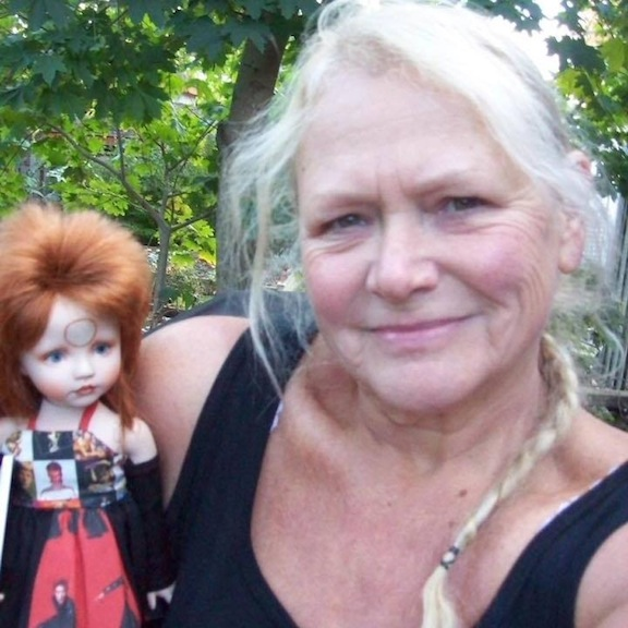 April Norton and her homage to David Bowie doll
