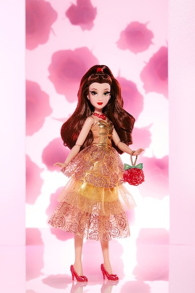 The Disney Princess Style Series gives a fresh, more modern feel to the princess's trademark palettes. Belle is clad in a tea-length dress rather than a full-length gown.