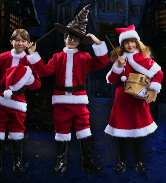 The Star Ace dolls are nearly identical to the actors who portray them. The Christmas versions are ideal for film fans and bookworms, too. Photo courtesy of Star Ace Toys