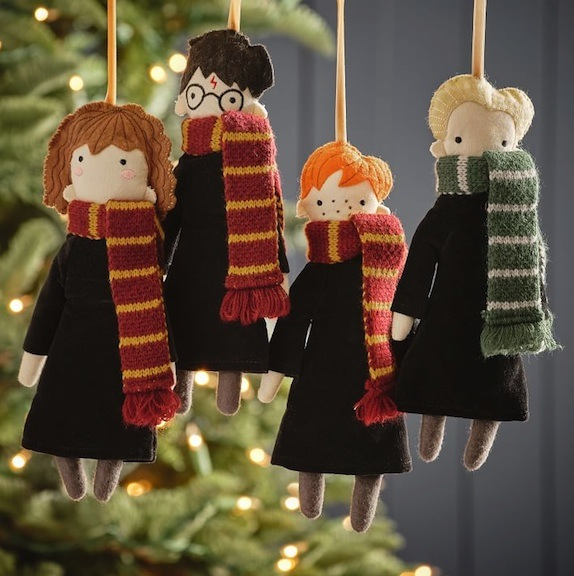 These homespun-looking versions of Ron, Harry, Hermione, and Draco are available at Pottery Barn. Photo courtesy of Pottery Barn