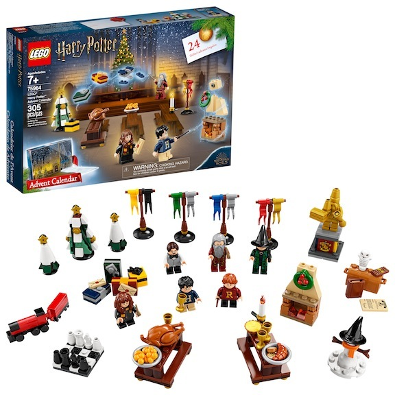 The Lego Harry Potter Advent Calendar set is sought after every year. It blends a Christmas countdown with collectability. Photo courtesy of Target/Lego