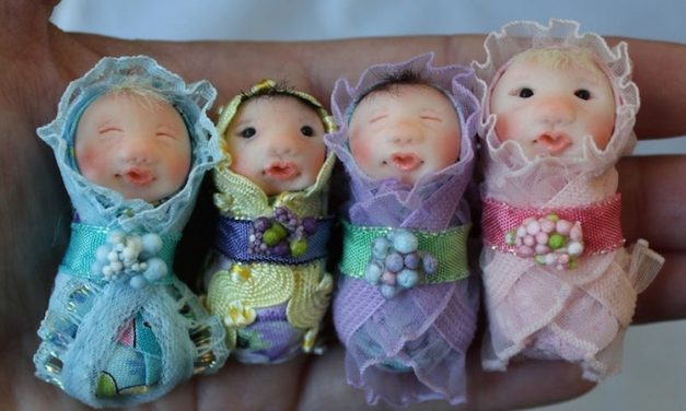 Sugarplum Fairies and Pixies: Judy Pollard's dolls sprinkle Christmas magic