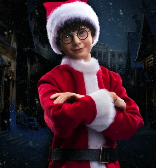 The Star Ace Harry Potter Christmas doll comes with Hedwig and a myriad of accessories. Photo courtesy of Star Ace Toys