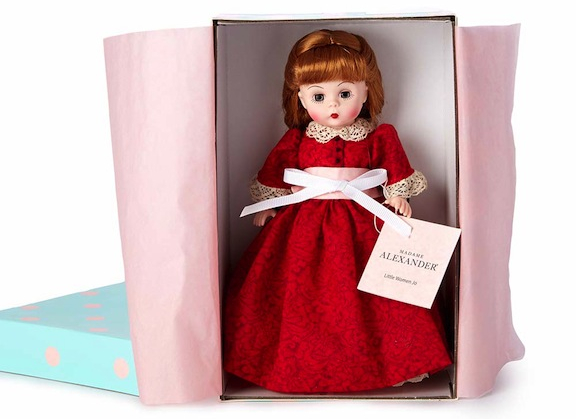 Priced at under $130 each, the 8-inch collectible Little Women dolls are perfect gifts for Christmas. Each March sister comes in the instantly recognizable Alexander box.