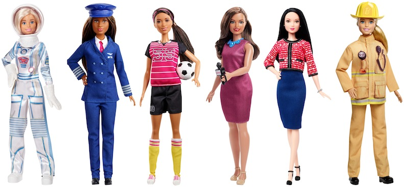 In time for Barbie's 60th anniversary, Mattel revisited some of her most iconic careers. They rereleased her as an astronaut, pilot, soccer star, reporter, politician, and firefighter.