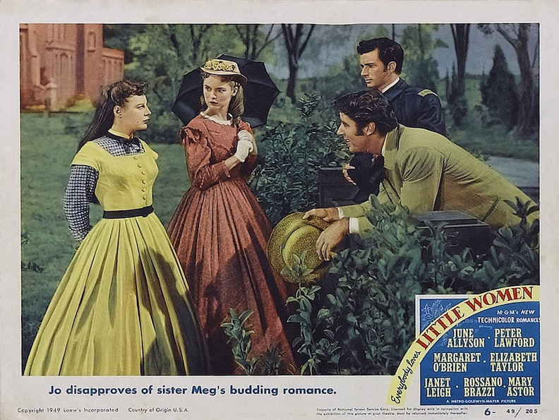 Jo is not happy about Meg's relationship. Janet Leigh plays the more conventional sister who wants a marriage, a home, and a family of her own. Photo courtesy of MGM/Warner Archives