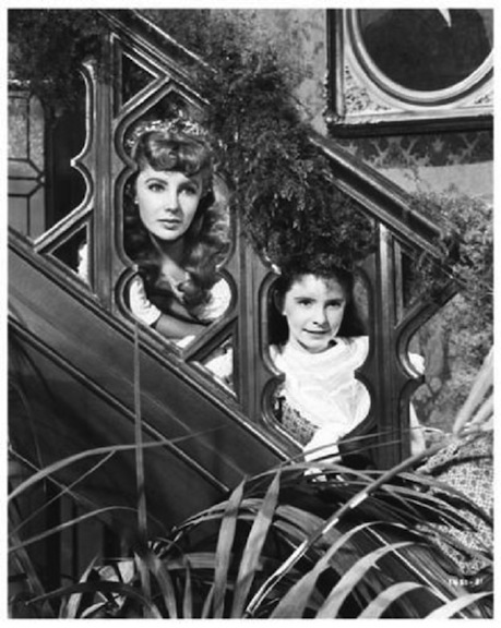 The beauteous Liz Taylor and the adorable Margaret O'Brien. Photo courtesy of Movie Star News