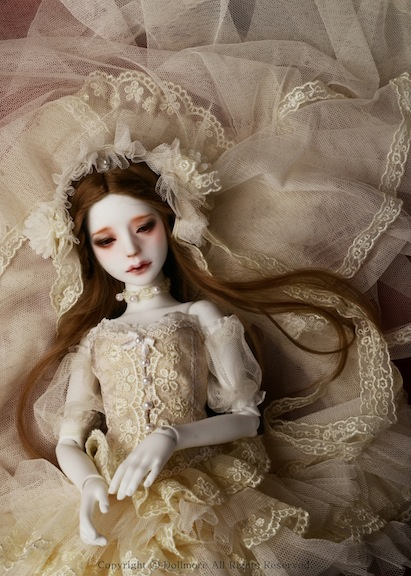 I'm thinking that Grace Doll, Autumn Bride: Thinking Hee ah would be a favorite present for a Tim Burton fan. The Dollmore original has a supernatural sultriness.