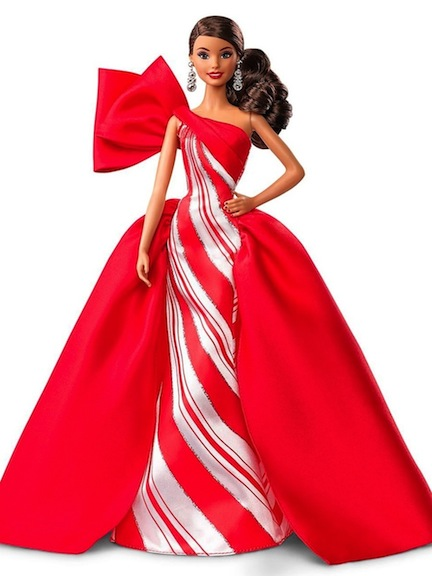Holiday Barbie 2019 is available in Hispanic, Caucasian, and African-American skin tones.