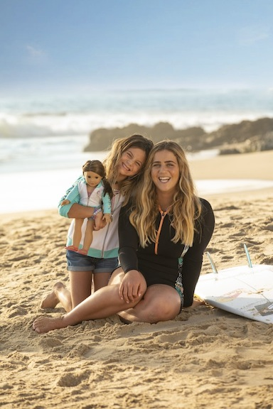 "Surfing champion Caroline Marks wholeheartedly applauds the new 2020 surfer doll. She thinks it's ""super rad"" to have her sport recognized."