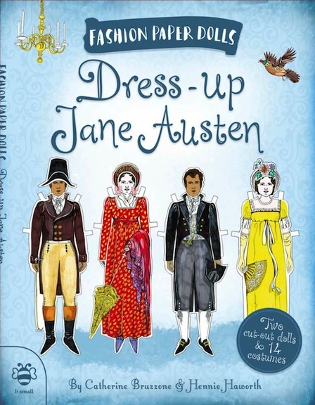 Paper dolls, such as these by Catherine Bruzzone and Hennie Hawthorn, have long spotlighted the characters of Austen's fiction.