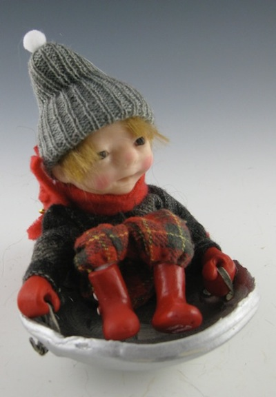 This playful 6-inch OOAK is part of Cooper's Winter series.