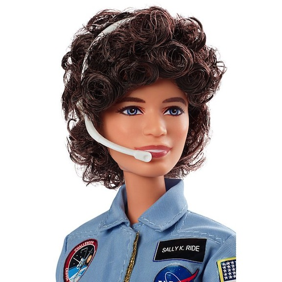 Sally Ride made history as the first American woman in space. Mattel honored the fearless crusader for women's equality on earth and beyond. She became one of their Inspiring Women dolls.