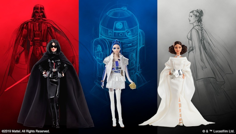 "Mattel was tapped to interpret iconic ""Star Wars"" characters as high-fashion divas. Robert Best was guided by the original sketches and artwork."