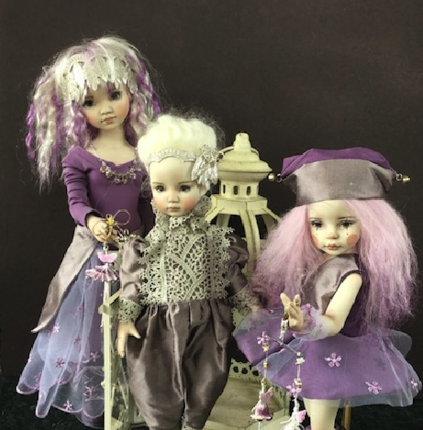 "The Amethyst Series dolls wear costumes that evoke a carnival or fantasy realm. These April Norton dolls reminded me of the opulent outfits that dominate ""The Masked Singer."""