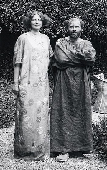 Gustav and Emilie at home, in their simple garments, in their garden. Photo courtesy of Prestel Archives