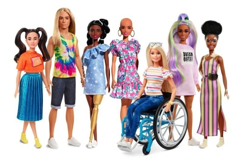 A partial lineup of some of the new dolls that reflect the diversity of the real world and of Mattel's Fashionista line. Doll photos courtesy of Mattel