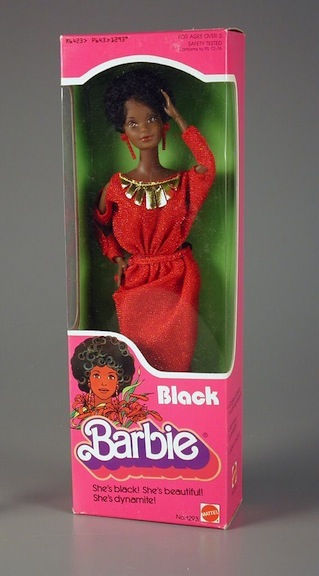 The original Black Barbie that debuted in 1980. Its no-frill packaging is contradictory to how much this doll impacted the world of play.