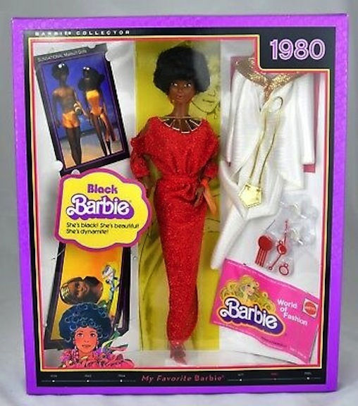 The 2010 reissue of the 1980 Black Barbie was part of Mattel's My Favorite Barbie series.