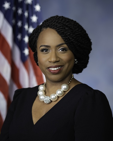 Congresswoman Ayanna Pressley's official U.S. House of Representatives portrait